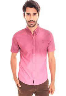 Camisa Convicto Slim Com Bordado Pink