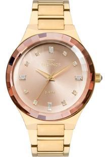 Relógio Feminino Technos Elegance Crystal 2036Mjk/4T Pulseira Aço Dourada - Feminino