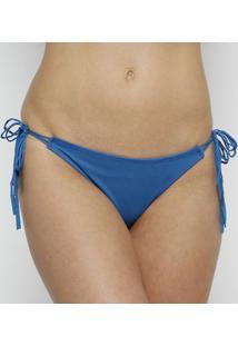 Calcinha Tanga Com Amarração- Azul- Arsiéarsie