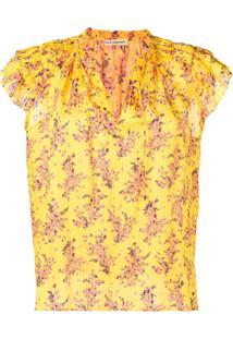 Ulla Johnson Blusa Estampada - Amarelo