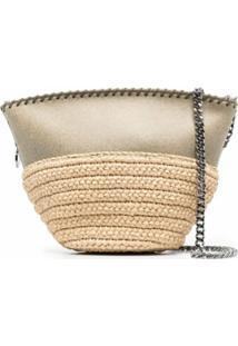 Stella Mccartney Mini Falabella Raffia Shoulder Bag - Neutro