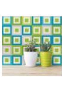 Adesivo De Azulejo Verde Geométrico Equilíbrio 10X10 100Un