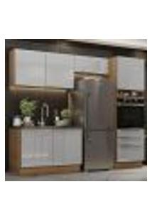 Cozinha Completa Madesa Lux 260005 Com Armário E Balcão - Rustic/Cinza