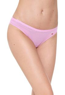 Calcinha Love Secret Lingerie Tanga Textura Rosa