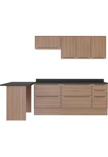Cozinha Compacta Calábria 8 Peças 7 Portas Nogueira Multimóveis