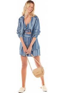 Blazer Zinco Detalhe Punho Jeans - Jeans - Feminino - Dafiti