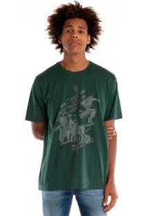 Camiseta Básica Konciny Manga Curta Musgo