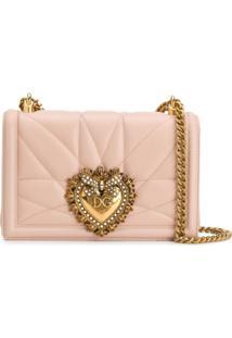 Dolce & Gabbana Bolsa Tiracolo Devotion De Couro - Neutro