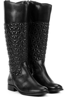a882b36e31 ... Bota Couro Montaria Shoestock Matelassê Feminina - Feminino-Preto