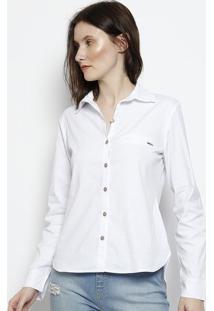 Camisa Lisa Com Bolso - Brancascalon