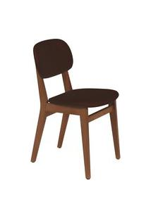 Cadeira London Tramontina 14060134 Amêndoa Estofado Café