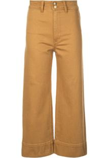 Apiece Apart Cropped Straight-Cut Trousers - Laranja