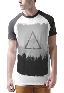 Camiseta Raglan Wevans Triangulo Base Branco