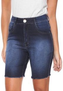 Bermuda Jeans Denuncia Middle Azul