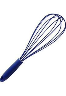 Batedor De Silicone 30Cm Azul - Homecook