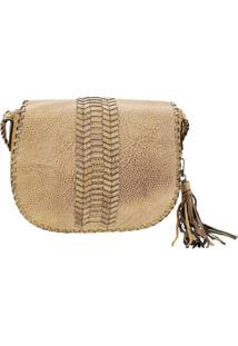 Bolsa Feminina Transversal Arara Dourada - Hs047 Amarelo