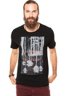 Camiseta Sommer Mini Forest Preta