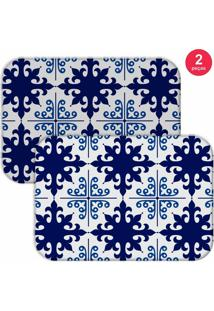 Jogo Americano Love Decor Ladrilho Blue Azul