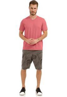 Camiseta Rovitex Lisa Premium - Masculino-Salmão