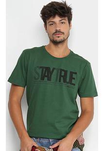 Camiseta Forum Stay True Masculina - Masculino-Verde Escuro