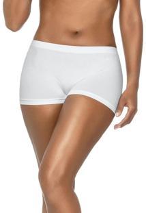 Calcinha Boxer Sem Costura Branco