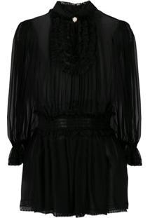 Dolce & Gabbana Blusa De Chiffon - Preto