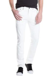 Calça Jeans Levis Slim - Masculino-Branco