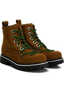 Nº21 Kids Teen Lace-Up Ankle Boots - Marrom