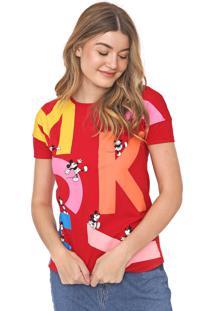 Blusa Cativa Disney Mickey Vermelha