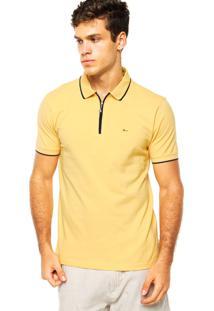 Camisa Polo Aramis Zíper Amarela
