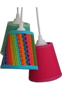 Luminária Cacho Estampado Crie Casa Colorido