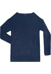 Suéter Tricô Azul