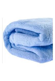 Manta Cobertor Bebe Infantil Microfibra 90X110Cm Azul Claro