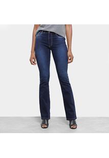 dc67e057a7 ... Calça Jeans Flare Sawary Cintura Média Feminina - Feminino-Azul