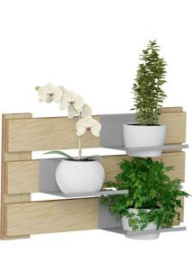Kit Jardim Vertical 1005 Lyam Decor Green Com 02 Cachepots Bege