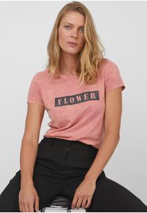 Camiseta Enfim Glitter Rosa - Kanui