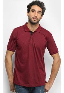 Camisa Polo Broken Rules Poá Masculina - Masculino-Vinho