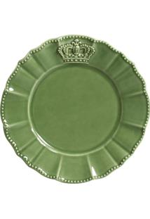 Jogo De Pratos Sobremesa 6 Pã§S Windsor Verde Sã¡Lvia Porto Brasil - Verde - Dafiti
