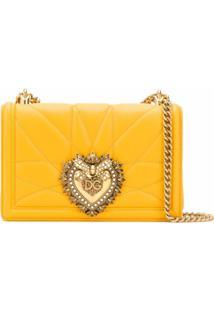 Dolce & Gabbana Bolsa Tiracolo Devotion - Amarelo