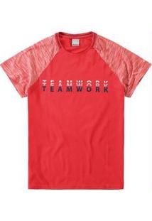 Camiseta Vermelha Slim Estampada Malwee
