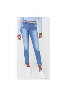 Calça Jeans Grifle Company Skinny Desfiada Azul