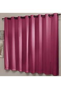 Cortina Blackout Lisa 200X180Cm Com Ilhós Pink - Sultan