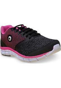 397bf1b570 Kinei. Tenis Fem Star Flex 0181 Preto Pink