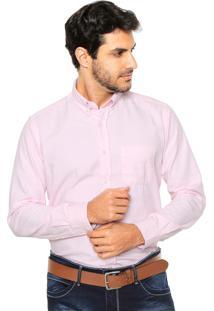 Camisa Sergio K Reta Oxford Rosa