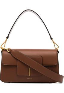 Wandler Georgia Leather Shoulder Bag - Marrom
