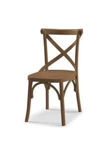 Cadeira X Cor Marrom Claro - 31329 Preto