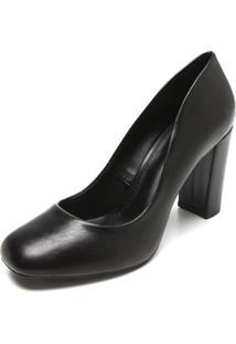 Scarpin Dafiti Shoes Salto Geométrico Preto