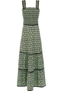 Isolda Vestido Longo 'Azure' Estampado - Joias