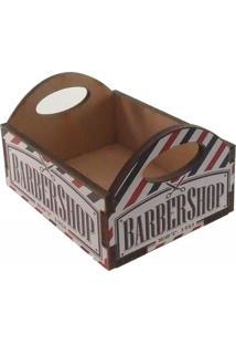 Enfeite Caixa Engradado Vazio Madeira Barber Shop Cor Preto