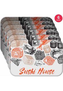 Jogo Americano Love Decor Wevans Sushi House Kit Com 6 Pçs